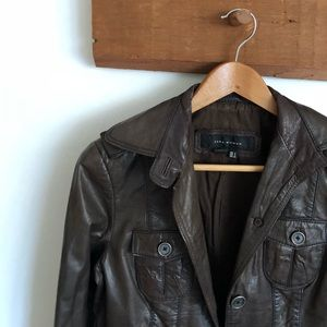Zara Woman Leather Blazer